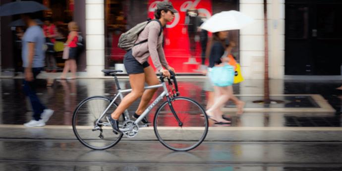 pedalare con pioggia