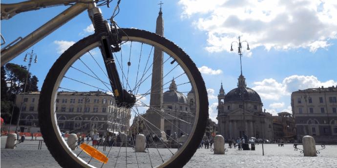 bici piazza del popolo