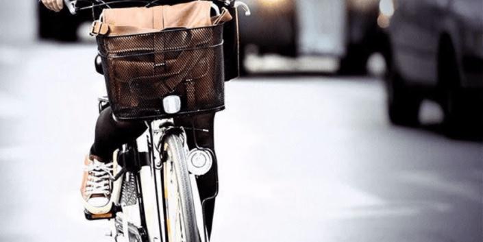 bici con borsa