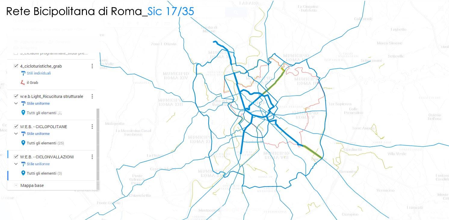 ciclabili del biciplan salvaiciclisti roma